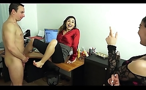 DOMINANT OFFICE GIRLS MAKE THEIR Accessary On the level CUCKOLD BITCH!