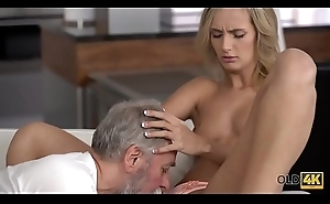 OLD4K. Juicy pussy waiting for a dick of an old man