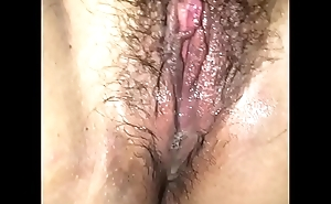 Young Latina gets a nasty creampie median be useful to her hairy pussy