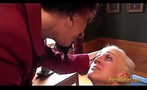 Blonde Receives Ridden off out of one's mind Her Domme