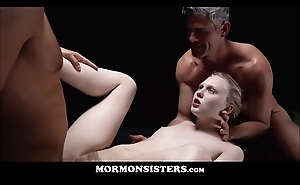 Mormon Angel of mercy Lily Rader Fucked By President Oaks &amp_ Brother Steele While On Rub-down the Amnesty Seat