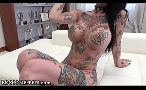 RoccoSiffredi Tattoed Mega Sluts Double Anal Reaming!