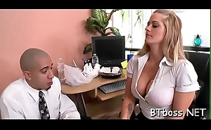 Hot sweetheart with big tits gets trimmed pussy smashed and screwed