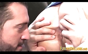 Fucked muscled hunk cums