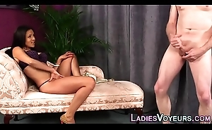 Domina watches loser tug