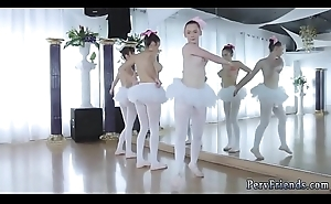 Tie the knot compeer blow job and group of comrades play games Ballerinas