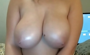 Hot bird showing heavy round tits not susceptible cam