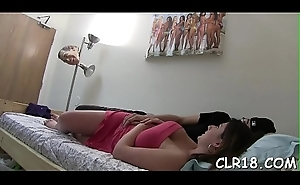 Horny code of practice hot slut drilled not susceptible the game room table