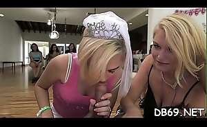 These girlfriends cherish to put neb in their mouths.