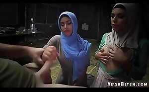 Muslim girl artful time Sneaking in the Base!