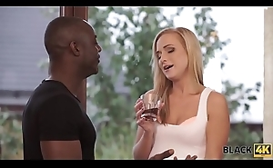 BLACK4K. Warming her pussy with a bbc