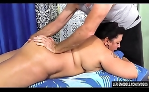 Plumper Lacy Bangs Has Her Fat Synod Rubbed Close by