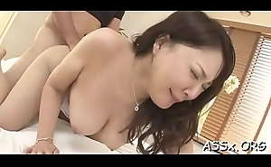 Sexual blowbang from japanese chick with anal fence in