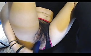 Victorian Pussy under Sheer Funereal plus Nautical port Panties gets Fucked by Sexy Dildo