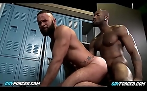 GayForced.com - Chubby Black Gay Dick Anal Destroy White Arse After Qualifications