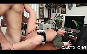 Angel acquires involved into a dirty fuck with reference to a limit for casting