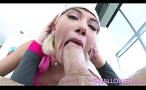 SWALLOWED Blue eyed Zelda Morrison loves to suck cock