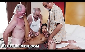 BLUE PILL MEN - Three Age-old Men And A Latin Lady Named Nikki Kay