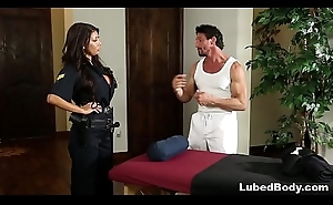 Lonely Policewoman finally gets what that babe needs! # August Taylor and Tommy Gunn